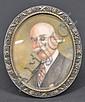 GERTRUDE L. PEW (1876-?) PORTRAIT ON IVORY
