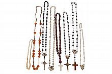 COLLECTION OF ANTIQUE ROSARY BEADS