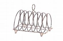GEORGE III STERLING SILVER TOAST RACK