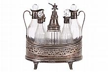PETER & ANN BATEMAN 1798-99, GEORGE III CRUET SET