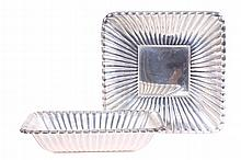 REED & BARTON TWO TRAJAN STERLING TRAYS