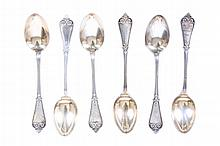 TIFFANY & CO, TIFFANY PATTERN DEMITASSE SPOONS