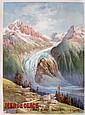 HUGO D'ALESI (1849-1906) «Mer de glace», circa