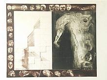 Rudlauer?, Jan - ''Perspektive No. 2 Le Saut'', Probedruck 1970, Lithografi