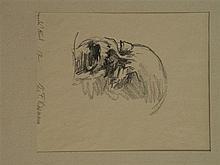 Lippmann, Karl Friedrich(1883 - 1957 Offenbach) - ''Weinendes Kind'', Litho