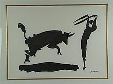 Picasso, Pablo (1881-1973) - ''Stierkampf III'', Lithographie, unten rechts