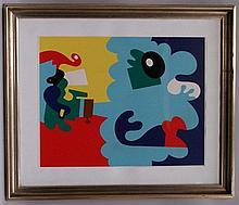 Alt, Otmar (*1940)-Abstrakte Komposition 1967, Farblithographie, signiert u