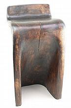 Holzhocker - Indien, Hartholz gebeizt, Sitzfläche mit vertikalem Riss, H. c