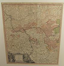 Historische Landkarte des Kurfürstentums Mainz und Bergstraße(Hessen) - Kop
