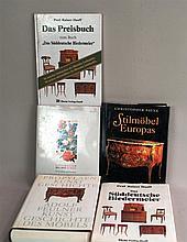 Konvolut Fachliteratur/Antiquitäten - 5-tlg. Stilmöbel, Biedermeier:''Prof.