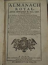Almanach Royal - Année bissextile MDCCLXIV, Paris 1764, 524S. , ca. 50 letz