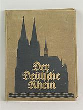 Der Deutsche Rhein - ca. 1927, Verschiedene Farblithografien von Städteansi