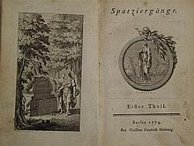 Himburg, Christian Friedrich - Spatziergänge, Berlin 1774, 254S. , min. sto