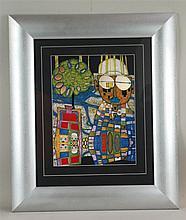 Hundertwasser, Friedensreich - ''Tropenchinese'', Farboffset, ca. 34, 5x26