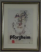 Janssen, Horst - ''Pforzheim'', Farboffset, handsigniert, ca. 56x40 cm, unt