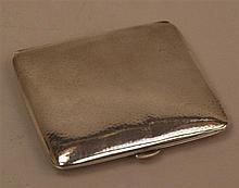 Zigaretten- oder Visitenkarten-Etui - Silber 835, gerundete rechteckige For