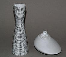 2 Vases- Rosenthal, 20th century, 1x studio-line,  H.c.9/20cm