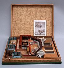dollhouse- 20 century. For 3 dollhouses variants, brown toys, Frankfurt, 37 x 47 cm