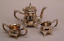 Mocha core -3 pcs. consisting of 1 pot, 1 sugar bowl with handles and 1 milk jug with