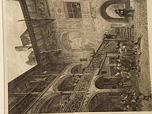 The imperial court in Nuremberg - etching by Ludwig Kuhn after a painting by Prof.Paul