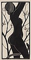 Eric Gill (1882-1940) Eve wood-engraving, 1926, on