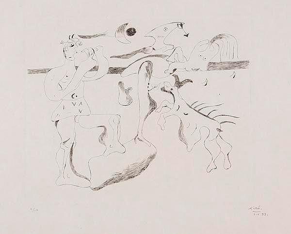 Joan Mir- (1893-1983) Daphnis et Chloe (d.9)