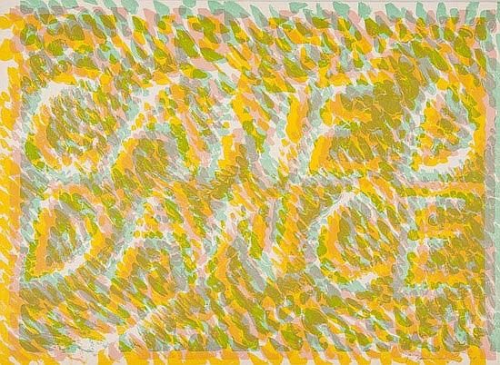 Bruce Nauman (b.1941) Caned Dance, lithograph