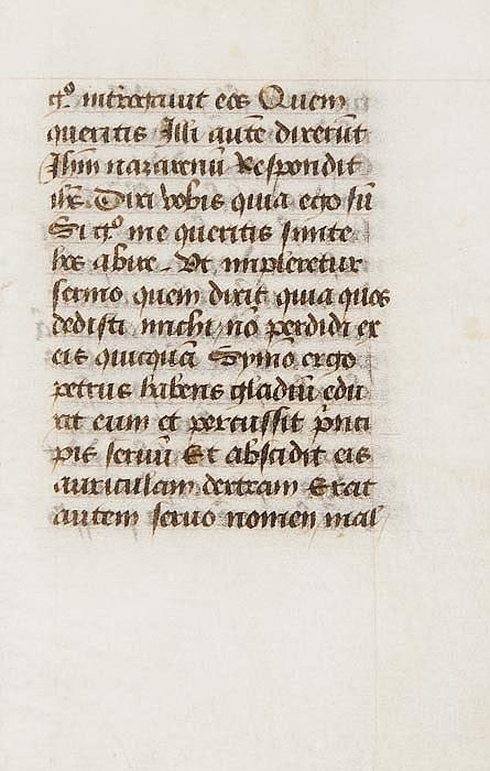Bible, , Latin. fragment of St. John's Gospel,