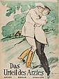 KAINER Ludwig DAS URTEIL DES ARZTES lithograph in