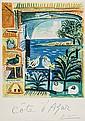 PICASSO Pablo (1881 - 1973) COTE d'AZUR lithograph