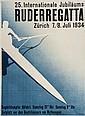 MARTIN RUDERREGATTA lithograph incolours, 1934,
