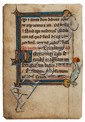 Book of Hours, single leaf, illuminated manuscript