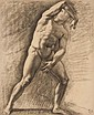 Armand Point (1860-1932) A male nude, turned to