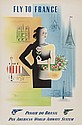 CARLU, Jean (1900-1997) FLY TO FRANCE, PAN AM