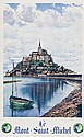 PECHEUX LE MONT SAINT-MICHEL lithograph in