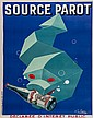 FAVRE, G. SOURCE PAROT lithograph in colours,