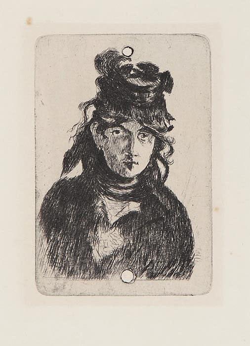 Edouard Manet (1832-1883) Berthe Morisot, etching,
