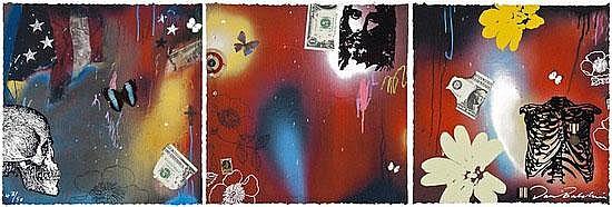 Dan Baldwin (b.19720 Apocolypse wow cont.triptych