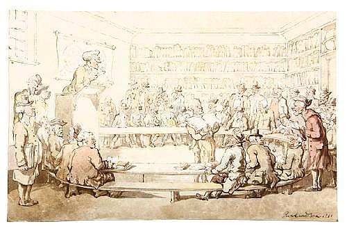 ROWLANDSON, Thomas (1756-1827). [A Book Auction].