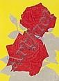 Gary Hume (British, b.1962) Two Roses woodcut