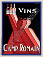 GADOUD, Claude [1905-1991] VINS CAMP ROMAIN, C. Gadoud, Click for value