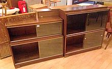 2 Wooden Vintage displace cabinets, with glass doors