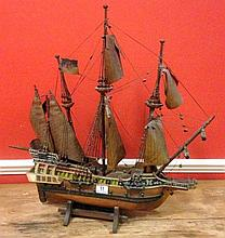 A Wooden Model Galleon