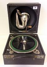 Decca Junior Portable gramophone.