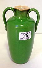 Royal Doulton Arts and Crafts style green glazed vase.