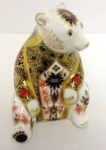 Royal Crown Derby Imari Honey Bear Paperweight,