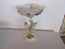 19th century hand painted porcelain Dresden center