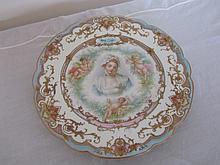 19th century Sevres pictorial cherub plate. 9.5