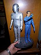 Gort and Klaatu resin kit build up on custom wood