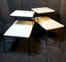 Mid Century Italian Marble and Iron Tables